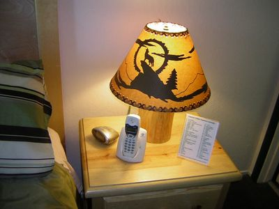 You'll love our wood-log lamps.