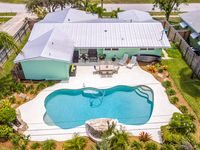 Bright dog-friendly home w/ private pool & enclosed yard - walk to the beach
