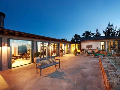 Carmel Highlands house rental - Low voltage lighting balance indoor and outdoor light