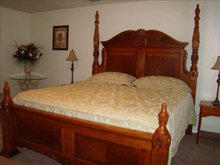 Master bedroom with a large walk in closet. - San Antonio house vacation rental photo