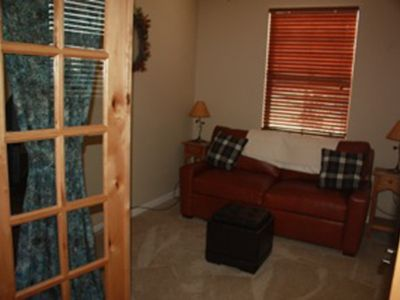 Study/3rd Bedroom: comfy TempurPedic Queen sleeper sofa, 32' LCD TV w/Blueray