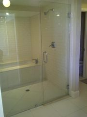 South Beach condo photo - Shower and Soaker Jetted Tub