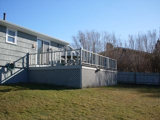 Point Judith house photo - Large deck where you can enjoy the sun and sunsets, cookout heaven!!!