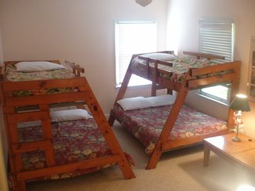 (2 Pyramid beds: each with double on bottom and twin top) ,Updated -new pic soon
