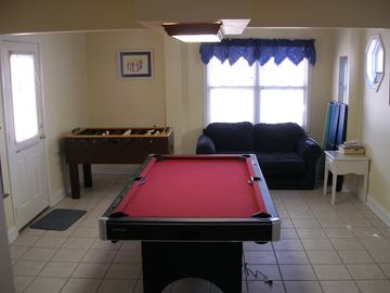 Game room located on the first floor!