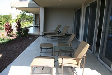 Wailea condo rental - Downstairs Lanai