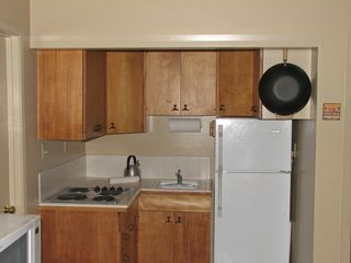 San Jose apartment photo - Tiny but useful kitchen also includes microwave and toaster oven