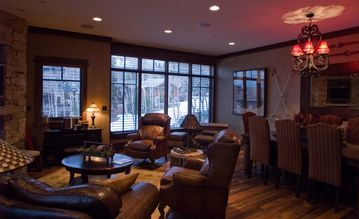 Deer Valley condo rental - Spectacular Ski Slope 2nd Floor Corner Unit Views from our spacious Living Room