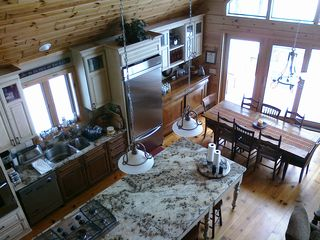 Crosslake cabin photo - Kitchen and dining area overlooking the lake