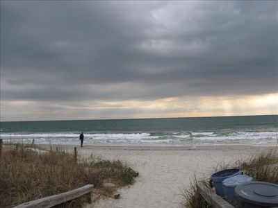 Ahhh.... the beach is still beautiful even on a stormy day