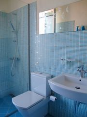 Sozopol house photo - here is the blue bathroom.