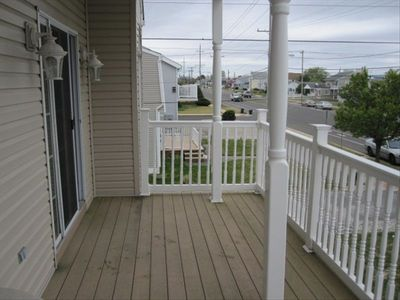 Brigantine house rental - Main Floor Deck with views of Atlantic City