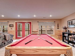 Wears Valley cabin photo - Pool Table and Lending Library lower level