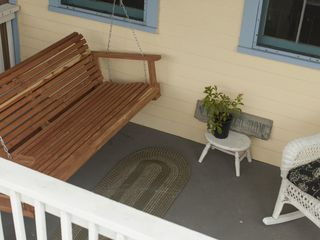 Galveston house photo - Enjoy your morning coffee on the front porch swing.