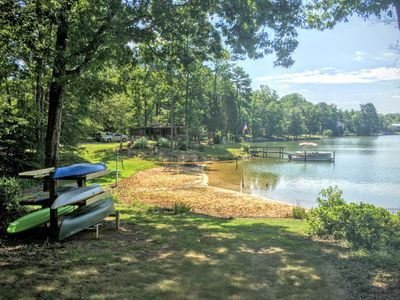 NEW LISTING!! Private Beach + Boat! Spacious 6BR/6ba Lakefront 20 Mins from CLT