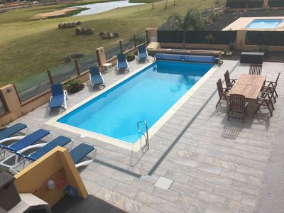 Luxury Villa Heated Salt pool overlooking Las Salinas golf course with sea views