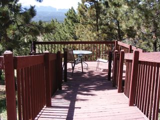 Woodland Park house photo - Deck walkway to lower deck