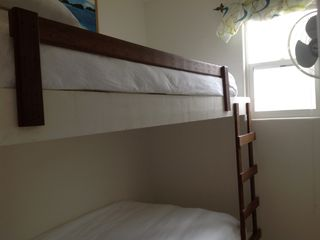 Second small bedroom with twin-twin bunk bed