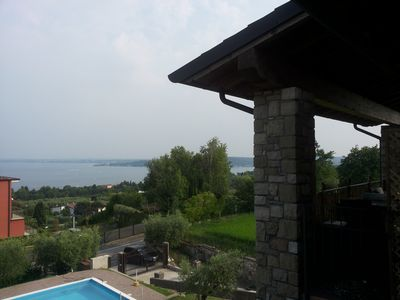 lake view apartment with pool in quiet area
