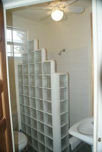 Shower in Jack and Jill Bathroom for bedrooms 2 and 3.