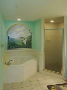 Master bath has Jacuzzi, large walk in shower and double sinks