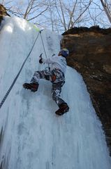 Climb a nearby frozen waterfall-ask for rates - DeSoto cabin vacation rental photo