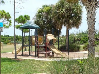 one of many playgrounds nearby