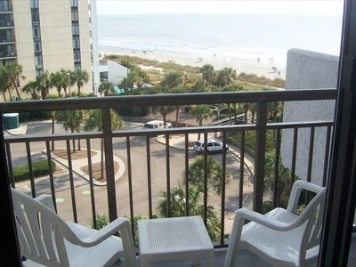 Private Balcony(10'x6') View of Beach & Strip.