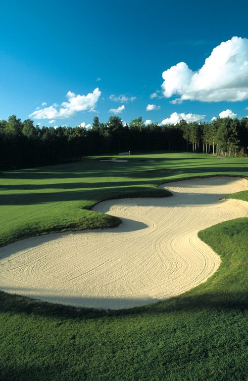 Two beautiful courses on property at Crystal Mountain Resort.