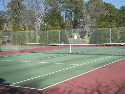 Private Association Tennis Courts, located at the dead-end of the road.