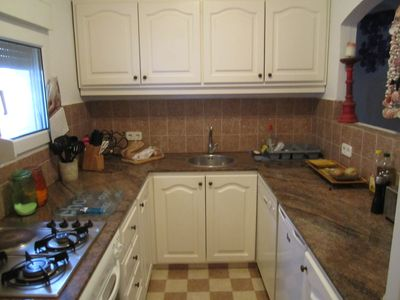 Sant Josep (San Jose) bungalow rental - The separate fitted and equipped Kitchen