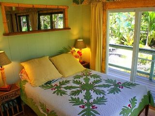 Pahoa cottage photo - Bedroom with view of the pond