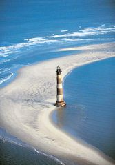 Folly Beach cottage photo - Morris Lighthouse on Folly Beach...View from our roof (just kidding)