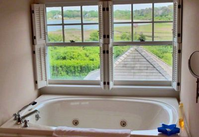 Edgartown estate rental - Master Bath Features Jacuzzi With A View