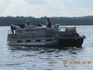 Longville cabin photo - Family boating on Blackwater lake
