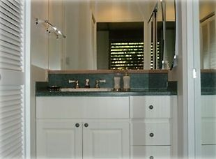 Remodeled bathroom vanity area
