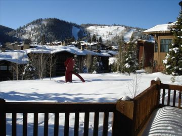 View from our balcony of Deer Valley Ski slopes.