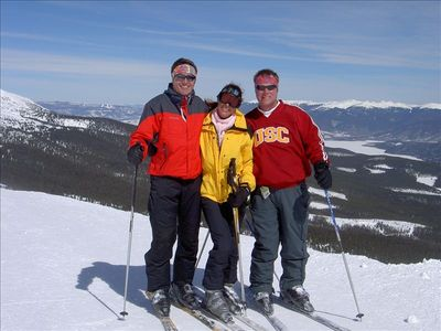 Mike, Kristen, and Anthony on top of the world