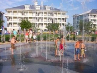 Sunset Island Ocean City townhome photo - Interactive Water Fountain. Just like Disney! At the end of Corner Store Lane.