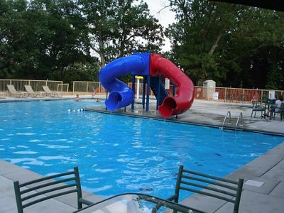 Pool, Tunnel Slides, Kiddie Pool & Hot Tub