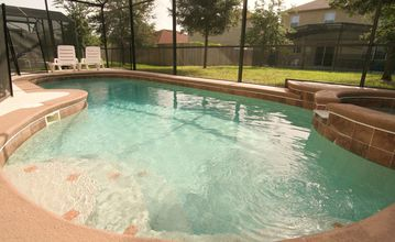 Clermont house rental - Relaxing private pool and hot tub for family time
