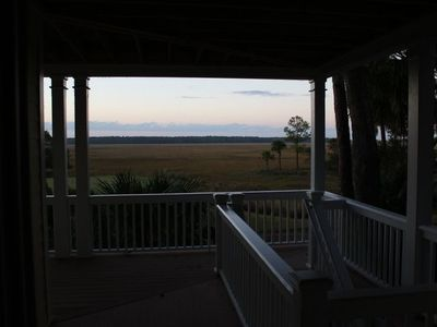 Fripp Island house rental - Lower deck view