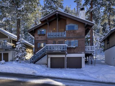This ski chalet is only blocks away from the lifts at Heavenly Ski Resort.