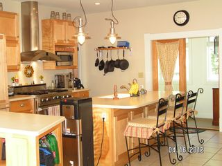 Cape Charles house photo - Spacious kitchen with Viking range, Keurig and much more