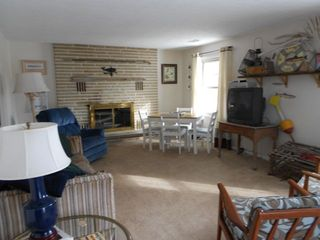 Vermilion house photo - Spacious living room, with queen sleeper sofa, TV, and extra seating