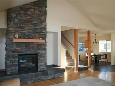 Gas Fireplace in Living Room - Open Style Layout in Home