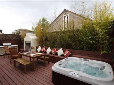 Sit in the Hot Tub, enjoy dining al Fresco or just a glass of wine by the fire