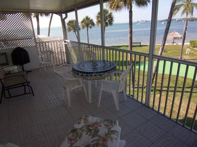 Current porch furnishings--million dollar beach view