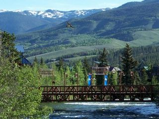 Frisco townhome photo - Pedestrian bridge over Blue River at Silverthorne Outlets, 8 mins away by car