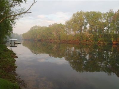 Morning view looking downstream from the dock